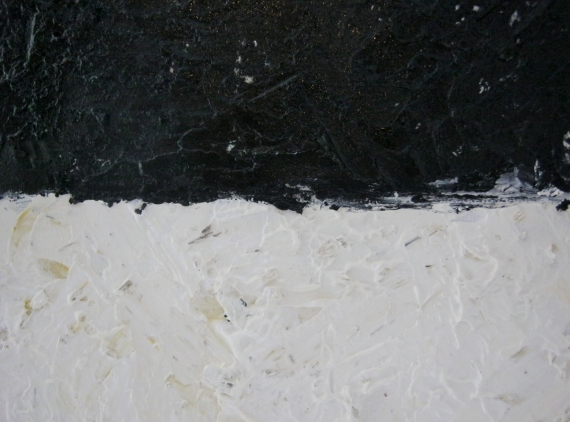 Paint Made From Soil and Bark (Oil on canvas board)