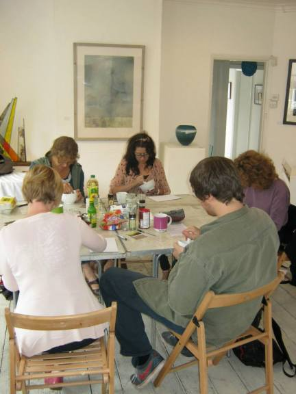 My paint-making workshop in action!